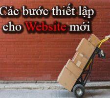 Thiết lập cơ bản cho website