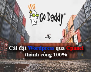 cài đặt wordpress trên godaddy cpanel