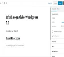 đưa trình soạn thảo wordpress về phiên bản cũ