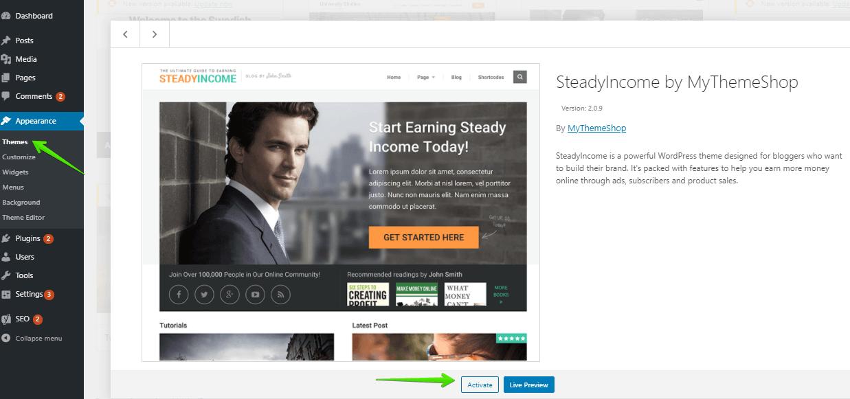 cách tạo blog kiếm tiền với cài đặt đầu tiên