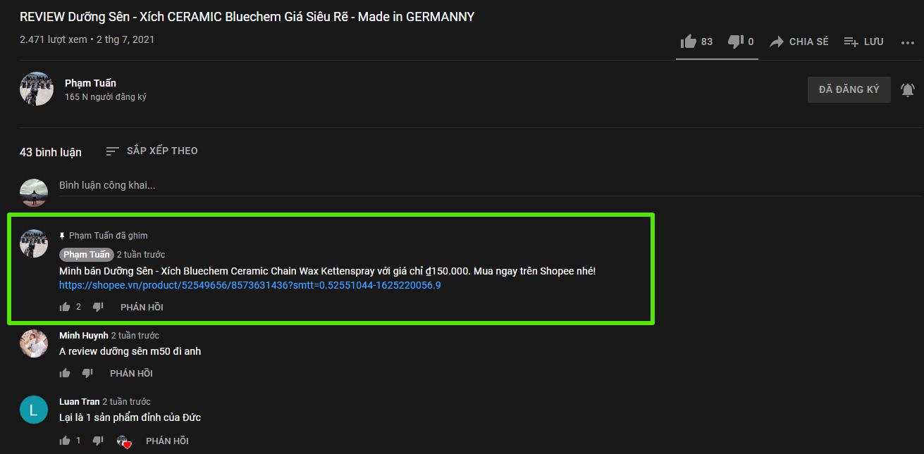 bán hàng shopee trên youtube